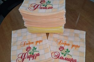 Вышивка на полотенцах <nobr>400 руб</nobr>