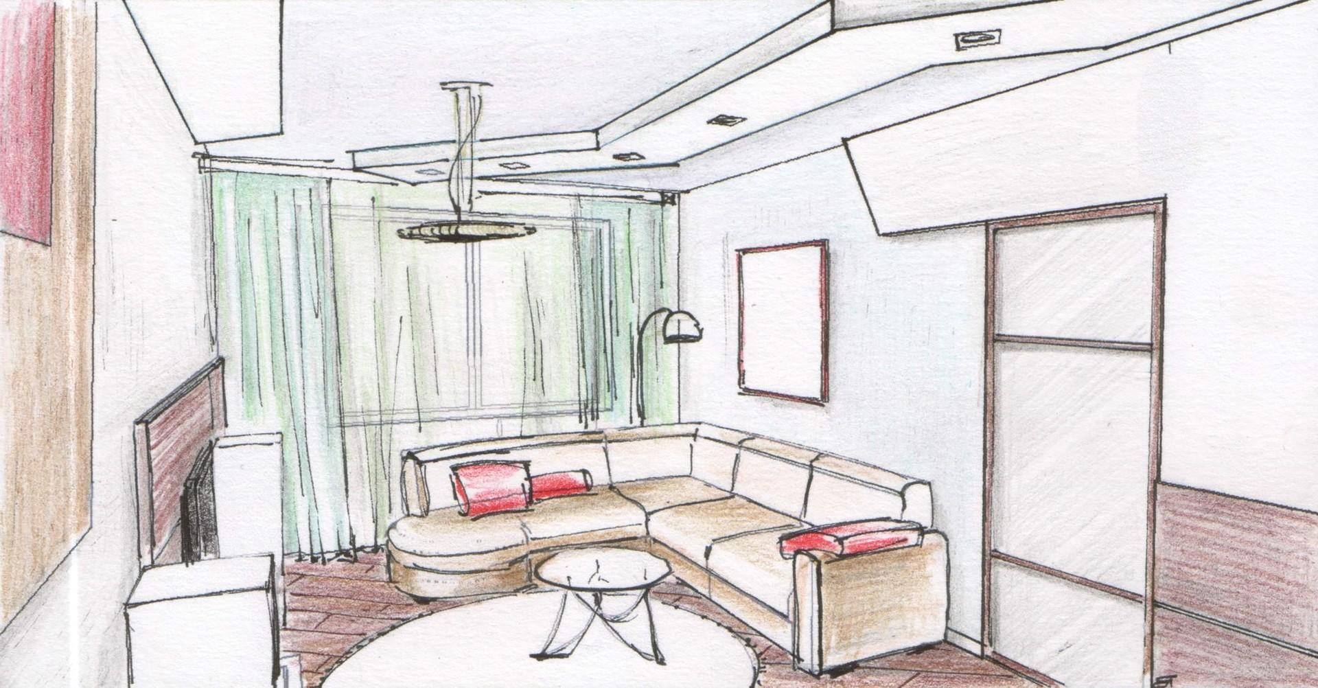 находилась рисунок про квартиру начинаю